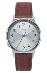Leather Strap Watch, 40mm