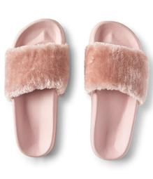 Faux Fur Slide Sandal