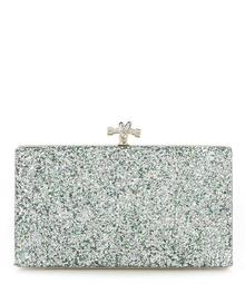Kate Landry Crushed Glitter Frame Clutch