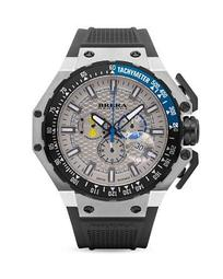 BREAR OROLOGI Gran Turismo Watches with Rubber Strap, 54mm
