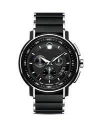 Black Finished Stainless Steel Strato Chronograph, 44mm