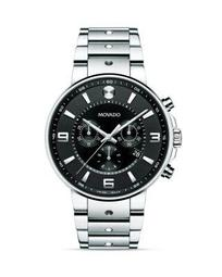 S.E. Pilot Stainless Steel case with Black Soleil Dial Watch, 42mm