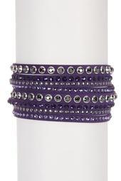 Slake Swarovski Crystal Accented Wrap Bracelet