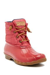 Saltwater Shiny Quilted Waterproof Boot