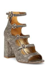 Laina Metallic Block Heel Pump