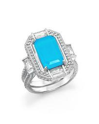 Sterling Silver Doublet Baguette Ring