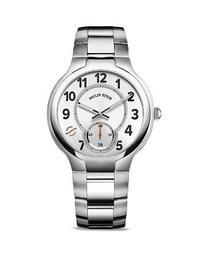 Philip Stein Large Round Stainless Steel Watch, 40mm