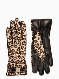 Cheetah Leather Gloves