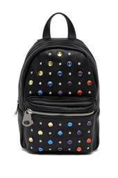 Embellished Faux Leather Mini Backpack