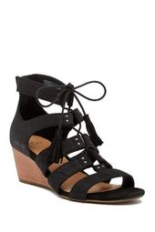 Yasmin Snake Embossed Wedge Sandal