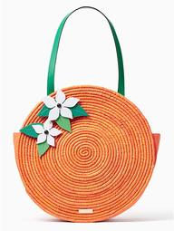 Spice Things Up Straw Orange Tote