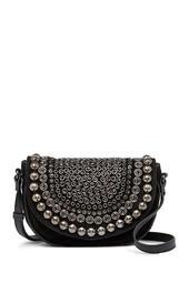 Gems Suede Mini Crossbody Bag