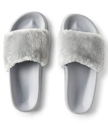 Faux Fur Slide Sandal