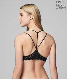 LLD Crochet-Trim Bralette