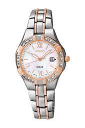Women's Two-Tone with Diamonds Solar Watch
