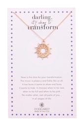 Darling It's Okay to Transform Sun & Moon Coin Charm Necklace