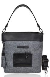 Boheme Wool & Leather Convertible Crossbody Bag