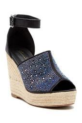 Jillian Embellished Platform Wedge Espadrille Sandal