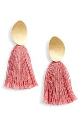 Curved Tassel Earrings