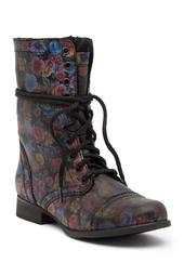 Troopa Floral Combat Boot