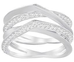 Genius Ring, White, Rhodium Plating