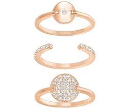 Ginger Ring Set, White, Rose Gold Plating