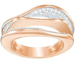 Hilly Ring, White, Rose gold plating