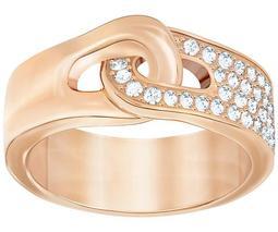 Gallon Ring, White, Rose Gold Plating