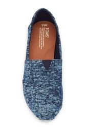 Washed Denim Slip-On Shoe