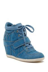 Bowie Denim Wedge Sneaker