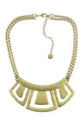 Hinged Geometric Bib Necklace