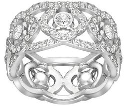 Daylight Ring, White, Rhodium Plating
