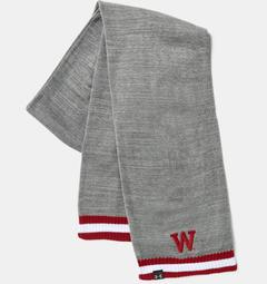 UA Wisconsin Iconic Stripe Scarf Unisex Accessories