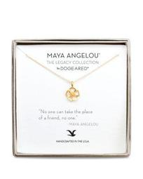 """Maya Angelou Legacy Collection """"No One Can Take the Place of a Friend..."""" Necklace, 16"""""""