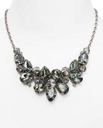 """Crystal Statement Necklace, 17.5"""""""