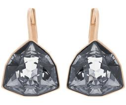 Brief Pierced Earrings, Gray, Rose Gold Plating