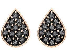 Ginger Stud Pierced Earrings, Gray, Rose Gold Plating