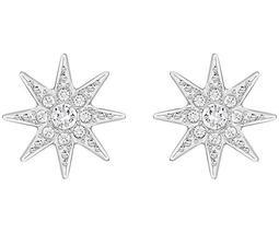 Fizzy Stud Pierced Earrings, White, Rhodium Plating