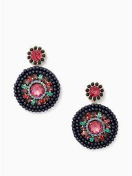 Luminous Leather Statement Earrings