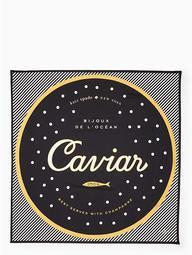 Caviar Silk Square Scarf