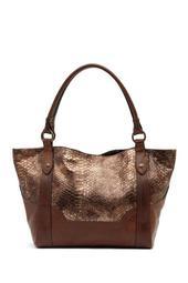 Melissa Leather Snake Pattern Shoulder Bag