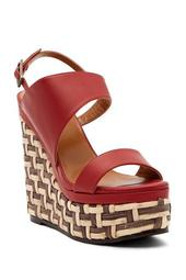 Carmela Woven Platform Heel Leather Sandal