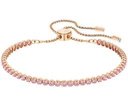 Subtle Bracelet, Pink, Rose Gold Plating