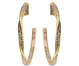 Film Hoop Clip Earrings