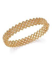 18K Yellow Gold New Barocco Diamond Bangle