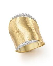 Diamond Lunaria Large Ring in 18K Yellow Gold