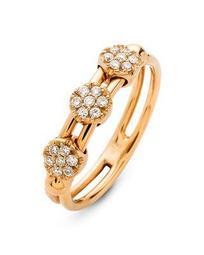 18K Rose Gold Tresore Diamond Trio Ring