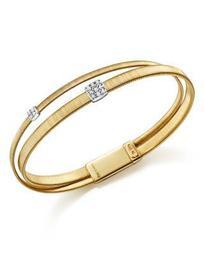 18K Yellow Gold Masai Two Strand Crossover Diamond Bracelet