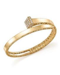 18K Yellow Gold Princess Chiodo Diamond Bangle - 100% Exclusive