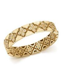 18K Yellow Gold Venetian Princess Diamond Bangle